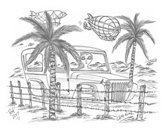 Chapasak (rod1691) Tags: bw scifi grey concept custom car retro space hotrod drawing pencil h2 hb original story fantasy funny tale automotive art illistration greyscale moonpies sketch