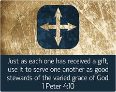 1 Peter 4:10 (joshtinpowers) Tags: peter bible scripture