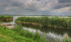 Lake (Roman_P2013) Tags: biskupin poland best shot nice like clouds water river pond grass pier wooden
