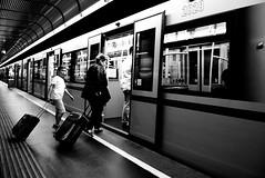 Back Home (Roi.C) Tags: train subway underground people outdoor black white blackwhite blackandwhite nikkor nikond5300 nikon vienna austria europe