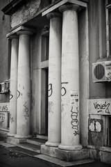 20170502-0388-Edit (www.cjo.info) Tags: avijatičarskitrg bw balkanpeninsular belgrade beograd europe formeryugoslavia nikcollection pentax pentaxk pentaxk3ii smcpentaxfa35mmf2al serbia silverefexpro silverefexpro2 southeasterneurope srbija zemun architecture artdeco autofocus bayonet blackwhite blackandwhite building column decay digital door graffiti modernbuilding monochrome urban авијатичарскитрг београд земун србија