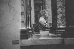 Self portrait at Le Louvre (benina_hu) Tags: film photography filmisnotdead analog 35mm ilford delta 100 vsco vscofilm blackandwhite bw paris france art museum musee du louvre self portrait reflection