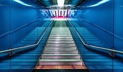 Universita 10 (isnogud_CT) Tags: treppe universita statione bahnhof ubahn underground linea1 neapel italien spiegelung