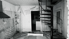 Lost place (frankdorgathen) Tags: wall empty devastation demolished abandoned lostplace door room kitchen stairs indoor building house home