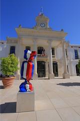 Mairie - Arcachon (hervétherry) Tags: aquitaine france gironde arcachon canon eos 7d efs 1022 mairie ville city town bleu blanc rouge