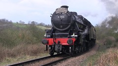 LMS Black Five No.44806 southbound at Green End on 1st April 2017 [NYMR] (soberhill) Tags: rail railway train steam 2017 northyorkshiremoorsrailway nymr lms blackfive black5 44806 greenend