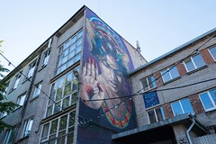 The fortuneteller (soilethecurious) Tags: architecture estonia kalamaja tallinn streetart