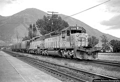 On the Road to Salt Lake City (jamesbelmont) Tags: unionpacific sd402 gp30b provo utah train locomotive railroad railway emd