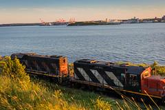 20170722-CityScape-7.jpg (Mark Klaamas) Tags: night halifax waterfront sunset train cnrail harbor