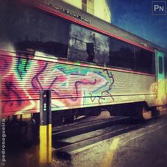 Grunge train (Pedro Nogueira Photography) Tags: pedronogueira pedronogueiraphotography photography iphoneography iphone5 graffiti streetart popculture muralart urbanart painting contemporaryart art streetstyle grunge