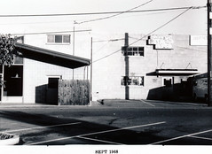 Menlo Park 1968: Santa Cruz Avenue - North Side, rear (menloparkplanning) Tags: mp1968downtownecr menlopark california sanmateocounty historicalphoto historical scannedphoto downtown santacruzavenue santacruzave 1986