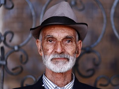 Man with the hat (deus77) Tags: man hat iran kerman bazar seller old portrait face persian iranian men