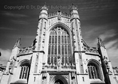 Bath Cathedral Front (Dave Butcher Photography) Tags: davebutcher davidbutcher blackandwhite photograph fineartphotography bath church somerset england