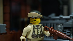 Lego WWII: Lt. Ryan Oswald (Force Movies Productions) Tags: war wwii weapons wars lego helmet gear helmets second rifles rifle toy toys trooper troops troopers troop troopps truck youtube army custom guns gun union minfig picture military infection minifig minifigure minifigs film firearms history ii soldier officer pose conflict photograpgh photo photograph animation scene stopmotion soldiers frame cool movie brickarms bricks brickfilm brickmania brickizimo brick minfigco
