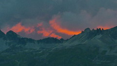 Evening skyline in Pontresina (Odd Stiansen) Tags: twilight redskies