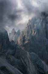 Mordor Pass (PixStone) Tags: heritage world europe dolomites pass sella italy mountains sunset clouds landscape fog mordor treshold peak nature val gardena nikon d7100 sassolungo sassopiatto