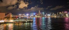 Night view from Victoria Harbour (danieltamkl) Tags: samyang12 sony a6000 hong kong hongkong harbour sea night city