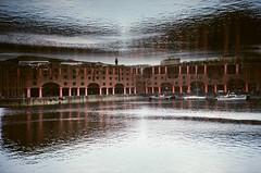 Albert Dock, Liverpool (iampaulrus) Tags: albertdock liverpool 35mm 35mmfilmphotography film35mm film filmphotography paulfargher paulfargherphotography lomography lomo architecture water doubleexposure multipleexposure splitzer reflection