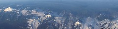 Flying Over the Mountains (artofjonacuna) Tags: mountains panoramic airplane airline northwest volcano snow