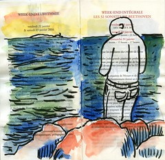 sunset marseille (dagnellpoharsson) Tags: dagnell poharsson sketches aquarelle watercolor croquis marseille plage
