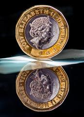 Macro Monday Queen (peterbaird100) Tags: queen macromonday coin reflections silver gold nikon d750 macro metal monarchy royal
