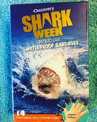 Shark Week Bandages (booboo_babies) Tags: sharkweek blue ocean discoverychannel summer television bandages july 2017 july2017 shark