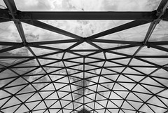 The Net (modestmoze) Tags: architecture pyramid glass metal constructions 2017 500px summer june clouds sky lines iron black white blackandwhite inside indoors view beautiful net sacred lithuania new fresh nikon tokina travel explore grey