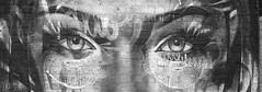 Stone Lady crop bw (ArtGordon1) Tags: artgordon1 artwork art walthamstow walthamforest london england uk e17 davegordon davidgordon daveartgordon davidagordon daveagordon blackwhite blackandwhite bricks graffiti woodstreetstation arches