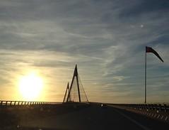 To the coast over Uddevalla bridge (annarkias) Tags: sweden se outdoor sunset bridge uddevallabron