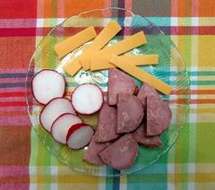Snack Plate (genesee_metcalfs) Tags: food snack sausage radish cheese