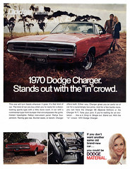 1970 Dodge Charger (Tom Simpson) Tags: 1970 1970s 1970dodgecharger 1970charger charger dodge dodgecharger car bucketseats vintage leather sportscar musclecar ad ads advertising advertisement vintagead vintageads