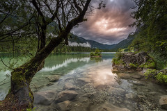 After the storm (Mika Laitinen) Tags: canon5dmarkiv europe germany hintersee leefilters calm cloud color lake landscape longexposure mountain nature outdoors rock serene sky storm sunset tree valley water