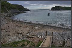 Aligned (J-o-h-n---E) Tags: dorset lulworth lulworthcove cove bay beach seascape boats aligned alignment path headland