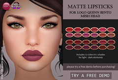 LOGO Quinn Matte Lipsticks (Izzie Button (Izzie's)) Tags: logo omega quinn makeup lipstick sl izzies