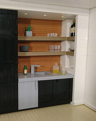Man Cave Kitchen (Heksu) Tags: man cave kitchen beer whiskey wine glass fridge lego