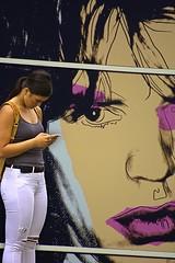 Wall Art (swong95765) Tags: art painting woman female lady pretty beauty imagery eye