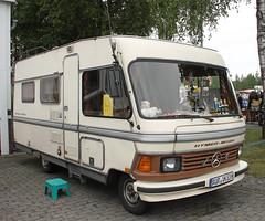 Hymer Camper (Schwanzus_Longus) Tags: wiesmoor german germany old classic vintage camper rv mobile home camping van hymer hymermobil b klasse class mercedes benz