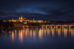 Prague castle (Jyrki Salmi) Tags: jyrki salmi praha prague castle stvituscathedral czech night lights charlesbridge