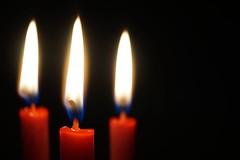 Three - Macro Mondays (lcams) Tags: macromondays three candles flames red hot