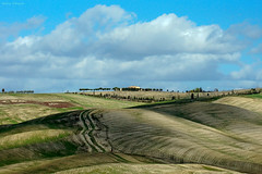 Panorama in Val d'Orcia (Darea62) Tags: valdorcia landscape nature hills tuscany triboli waves agriculture farmhouse sanquiricodorcia clouds unesco cultivation