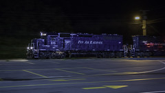 WAPO at Belgrade (Thomas Coulombe) Tags: panamrailways panam wapo emdsd402m sd402m nightphotography pan belgrade maine