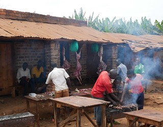 Fresh meat in the remote parts of Burundi.