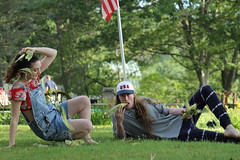 fourth 038 (reenbrady) Tags: beekman beekmanstreet artsfair saratoga saratogasprings liz lizolson jonathan terrence america fourthofjuly usa upstate upstateny new york flag portrait canon canont3 uncommongrounds clowns circus corn