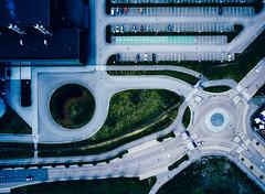 (miemo) Tags: dji mavic mavicpro abstract aerial cars drone europe factory finland helsinki lanes parkinglot road roundabout traffic urban vuosaari helsingfors uusimaa fi