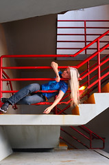 Another Fine Mess (eddi_monsoon) Tags: threesixtyfive 365 selfportrait selfie self portrait stairs rail handrail railing