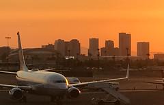 Phoenix looking perfect (Brian Just Got Back From...) Tags: phoenix arizona skyharbor airport sunset skyline