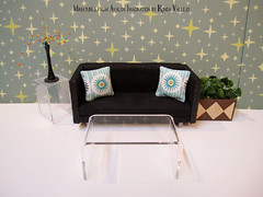 The Mid Century and Retro style pillow scenes (wpnschick) Tags: barbieaccessories barbiepillows barbieplanter barbiefurniture 16thscale 112thscale miniature miniatureaccessories midcenturymodernminiature retro dollhousedecor dollhousepillows miniaturepillows