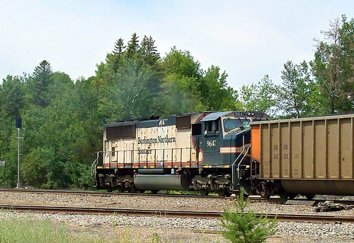 BNSF 9647 @ Hinckley - a photo on Flickriver