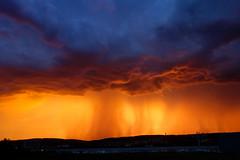 Storm at sunset (Eastern Traveller) Tags: sunset prague vltava storm orange blue czech republic beautiful extraordinaire extraordinary summer