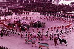 24 Japanese and overseas children join hands and dance Opening Ceremony (adelaidefire) Tags: world exposition 1970 expo 70 suita osaka japan sk colour slides 35mm